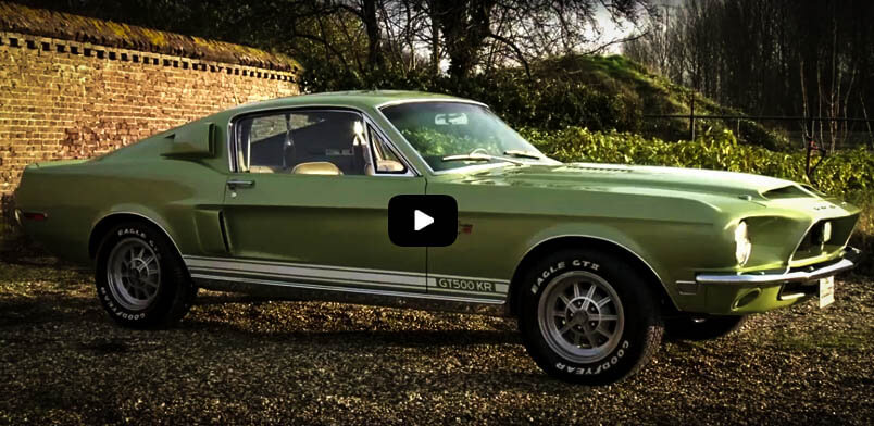 Best Muscle Cars 1968 Ford Mustang Shelby GT500 KR