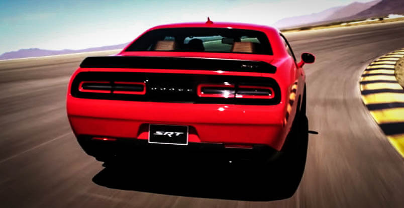 New Muscle Cars Dodge Challenger Hellcat Back Side