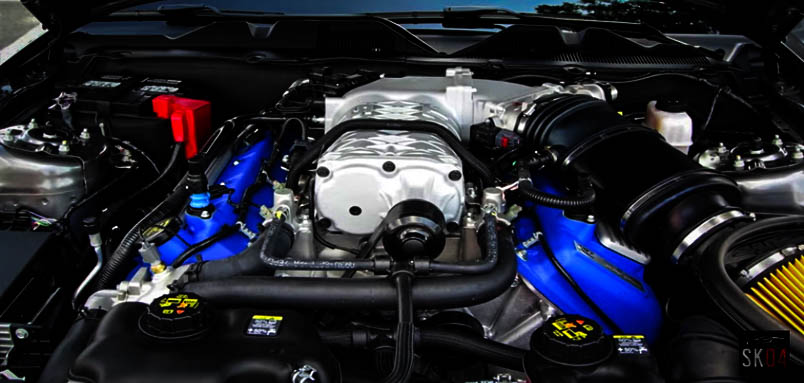 Modern Muscle Cars Ford Mustang Shelby GT500 Engine