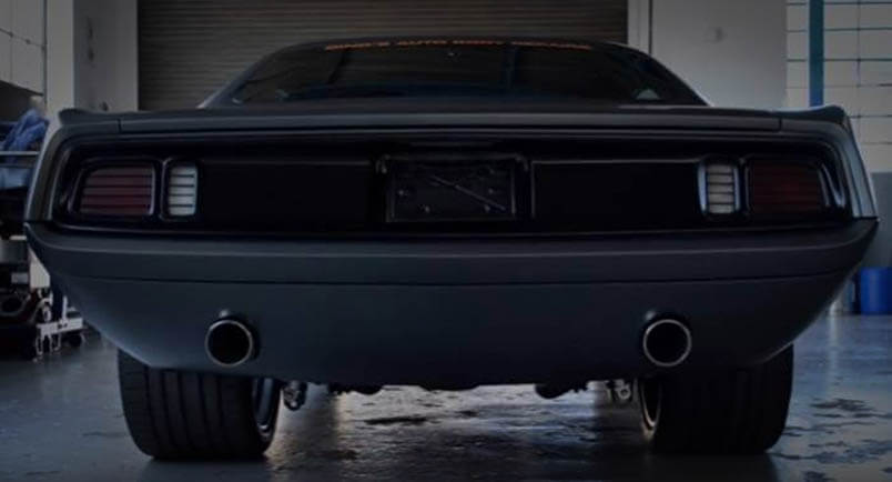 Awesome Muscle Car 1971 HEMI Cuda Rear