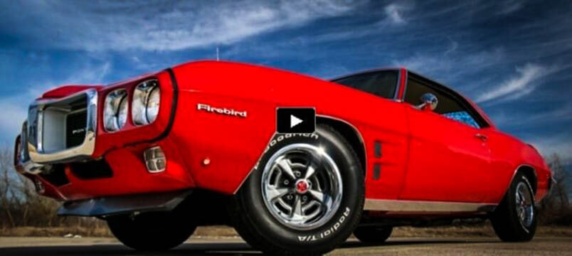 Awesome Muscle Car Superb 1969 Pontiac Firebird In Red
